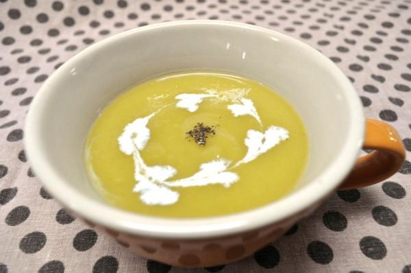 秋を感じるお料理レシピ 1(ライスドリームとさつまいものスープ)
