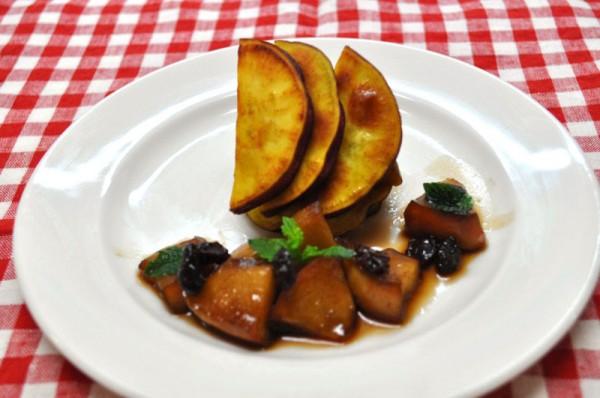 秋を感じるお料理レシピ 2(さつまいものソテー バルサミコソース)