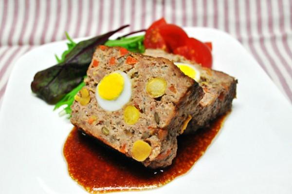 おもてなしレシピ:豆入りミートローフ