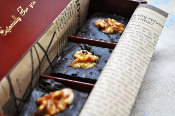 バレンタインレシピ:キャロブと豆腐のブラウニー
