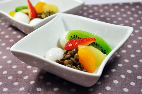 おやつレシピ:緑レンズ豆のぜんざい