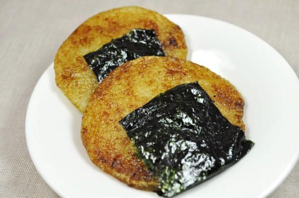 片栗粉で作るお菓子:豆腐磯辺もち