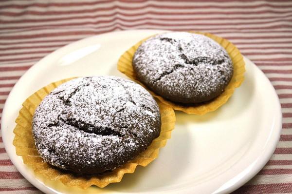 片栗粉で作るお菓子:キャロブカップケーキ