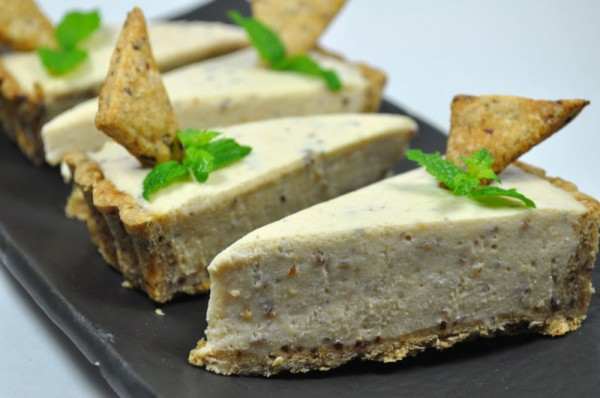 プルーンを使ったお菓子:レアチーズタルト