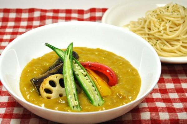 つけパスタ:夏野菜のカレーソース
