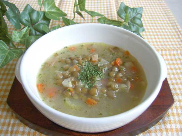 緑レンズ豆のスープ